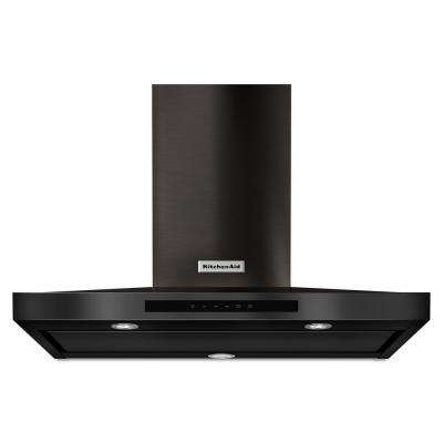 36 in. 600 CFM Convertible Wall Mount Range Hood in PrintShield Black Stainless