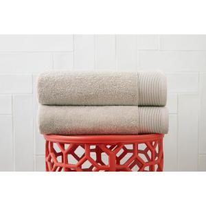 Performance Quick Dry Bath Towel in Biscuit (Set of 2)