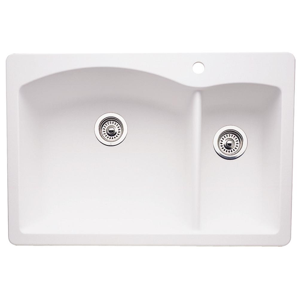 kitchen sink shop blanco dual mount composite 33 in 1 2879