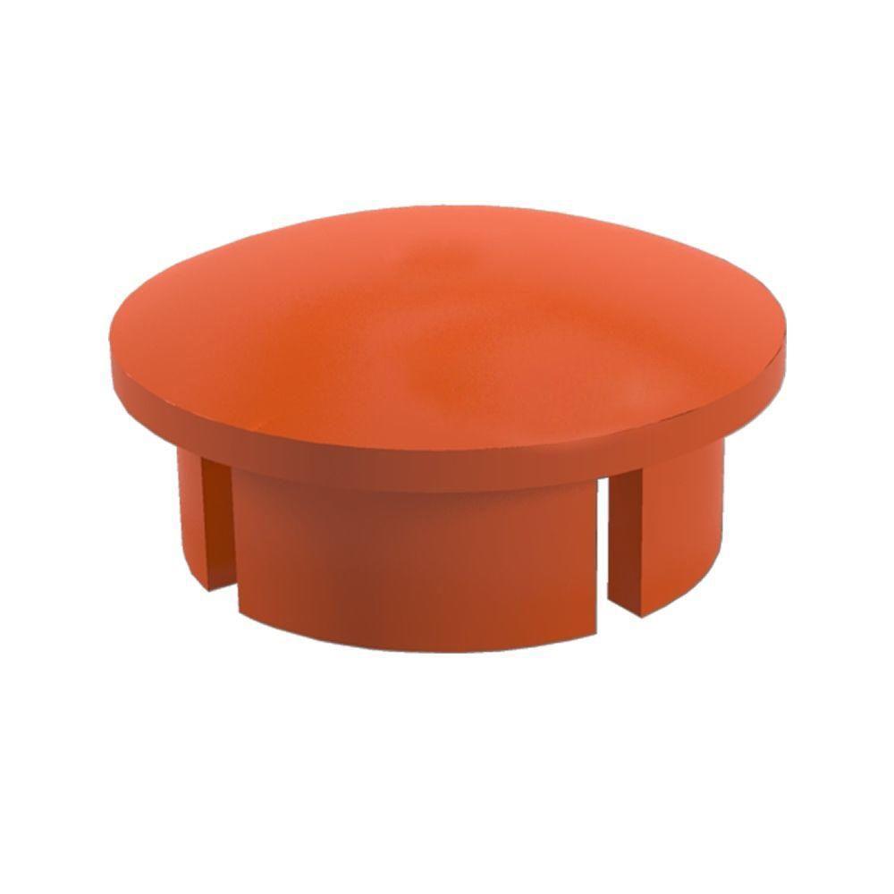 3/4 in. Furniture Grade PVC Internal Dome Cap in Orange (10-Pack)