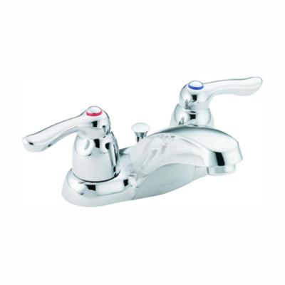 Chateau 4 in. Centerset 2-Handle Low Arc Bathroom Faucet in Chrome with Drain Assembly