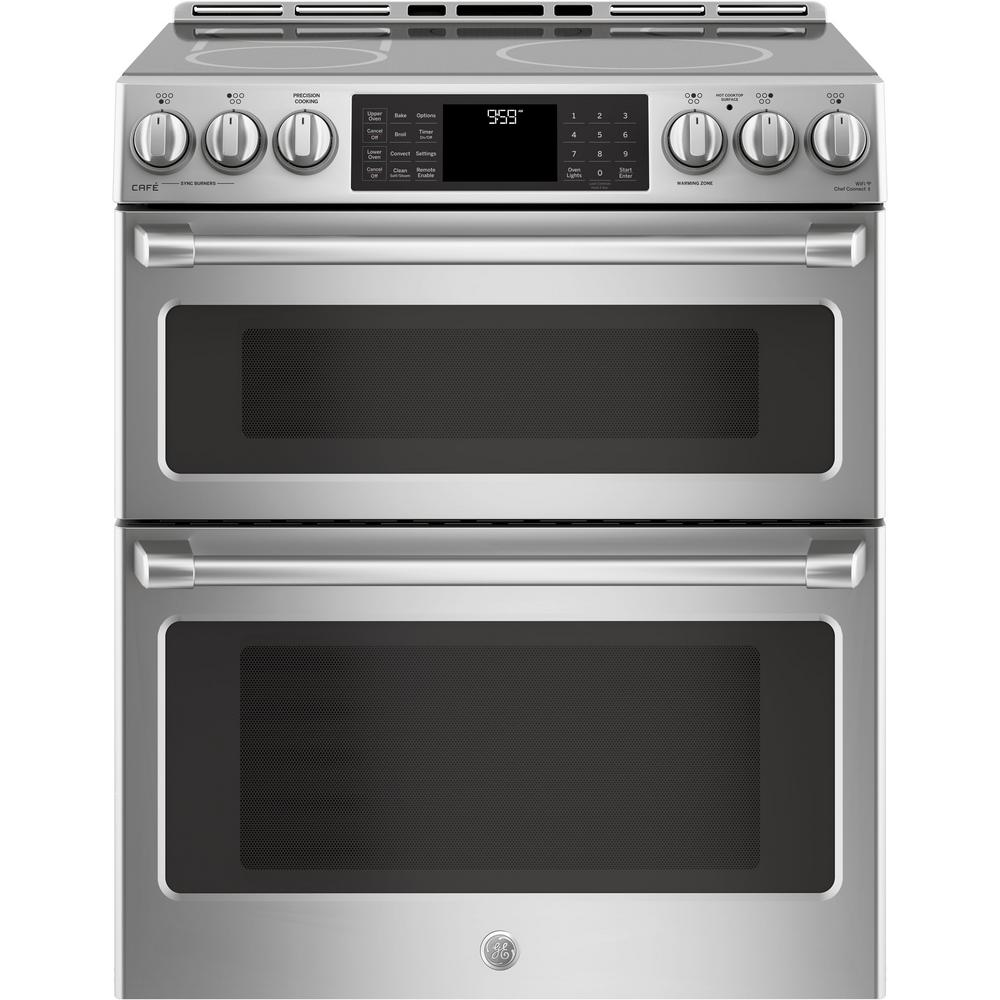 6.7 cu. ft. Slide-In Double Oven Electric Range with Self-Cleaning Convection