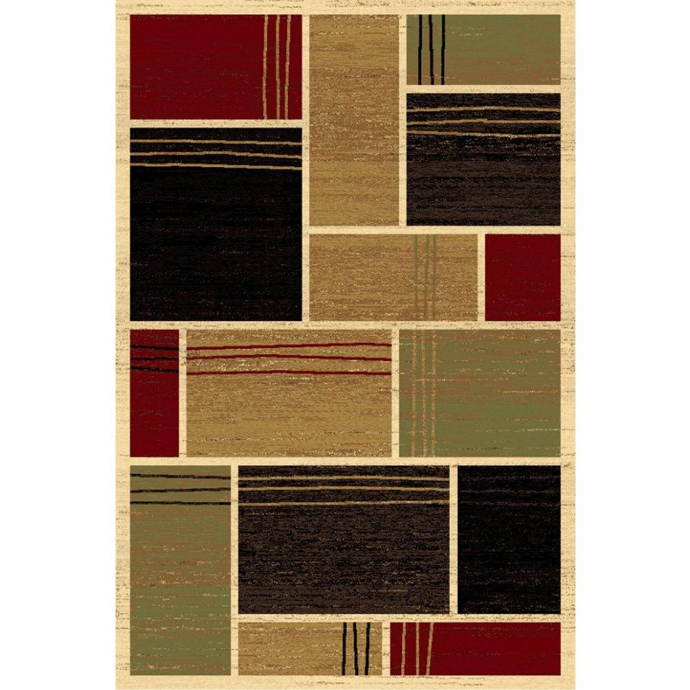 LA Rug Geometric Design Multi-color Melange Collection 5 ft. x 8 ft. Indoor Area Rug