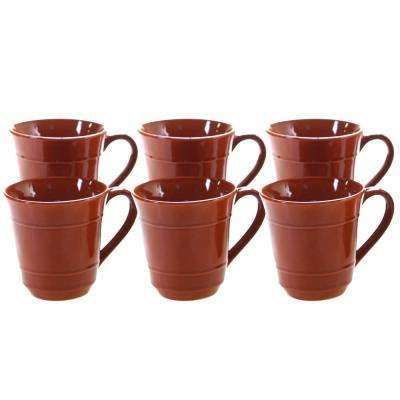 Autumn Fields by Susan Winget Orbit Pumpkin 14 oz. Mug (Set of 6)