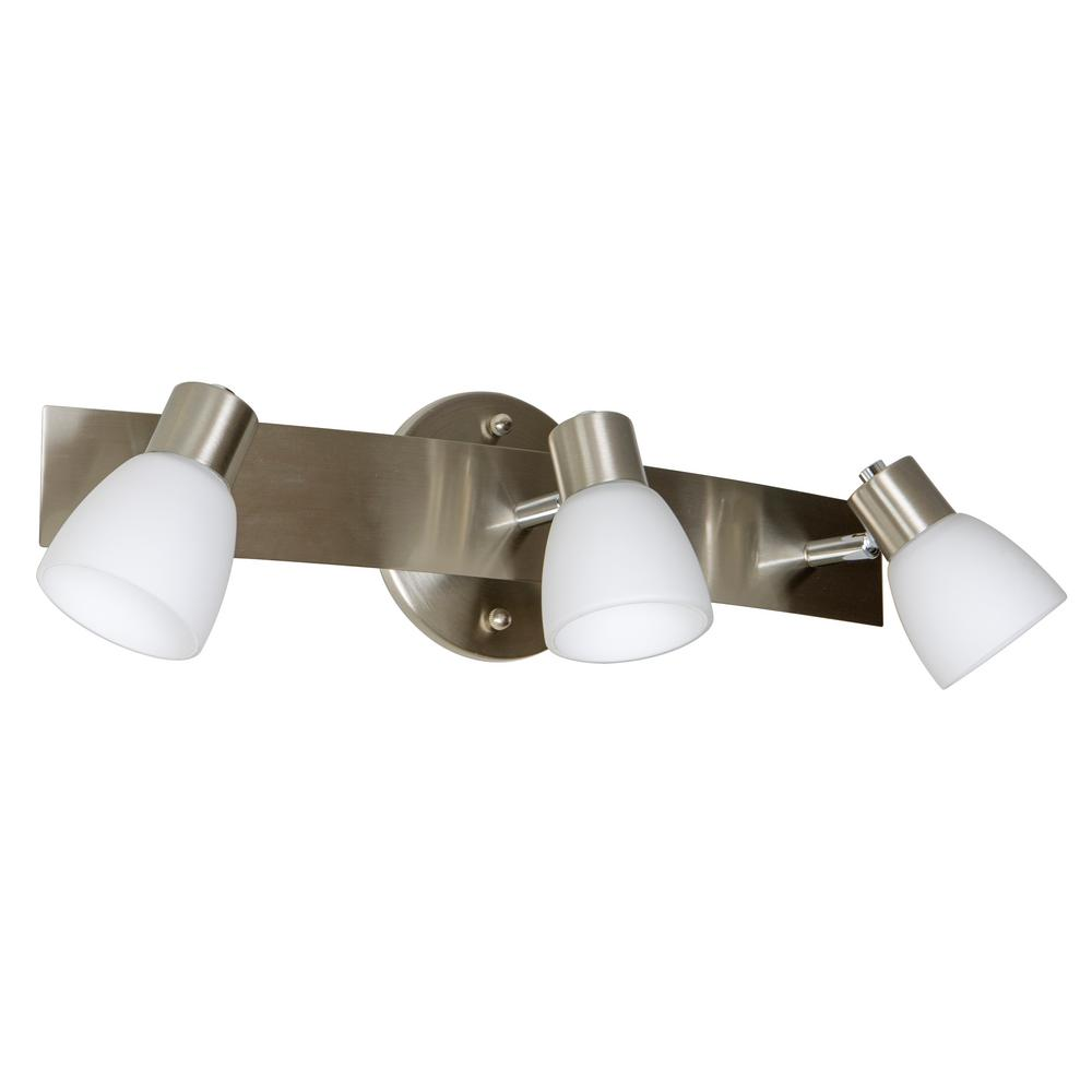 Decor Therapy Coppa 6.1 in. 3-Light Brushed Nickel Vanity Light