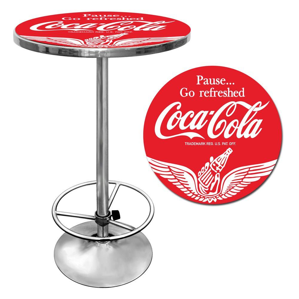 Trademark Wings Coca-Cola Chrome Pub/Bar Table