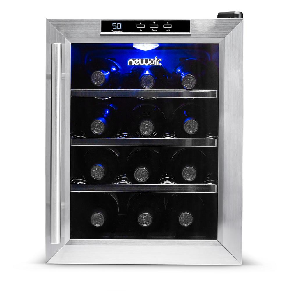 Newair 12 Bottle Freestanding Wine Cooler