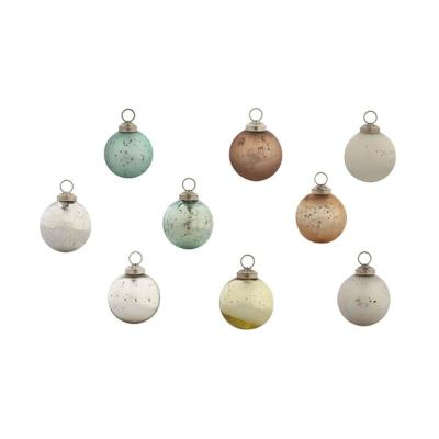 2-1/2 in. Chic Round Mint Collection Christmas Ornaments (48-Pack)