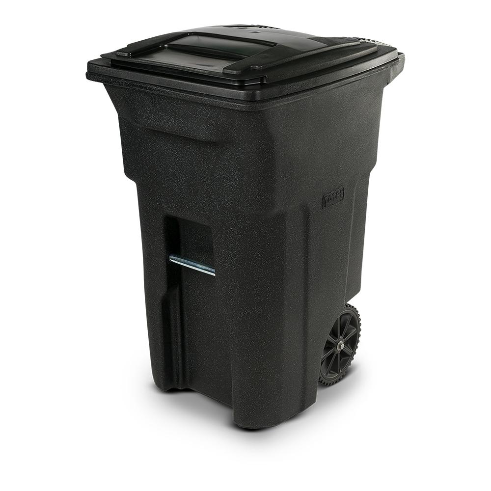 Toter 64 Gal. Blackstone Trash Can with Wheels and Attached Lid