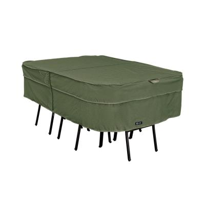 Montlake FadeSafe 108 in. L x 82 in. W x 23 in. H Heavy-Duty Rectangular/Oval Patio Table and Chair Set Cover