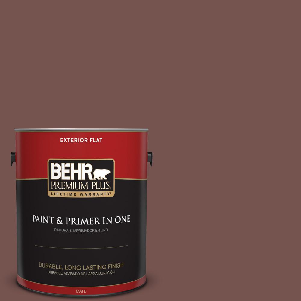 1 gal. #PPU2-20 Oxblood Flat Exterior Paint
