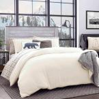 Cloud Peak 3-Piece Beige Solid Plush Microfiber King Duvet Cover Set