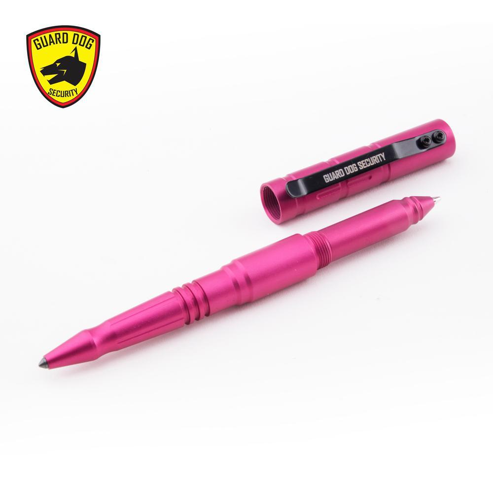 Type III Aluminum Tactical Pen with Tungsten Steel Pressure Tip, Pink