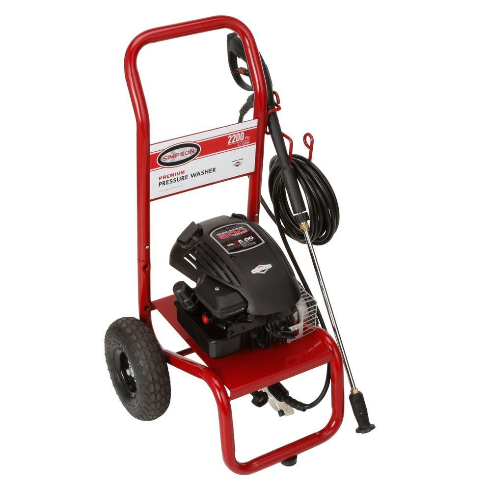Simpson MegaShot MSV2200-S 2200 psi 2.1 GPM Briggs and Stratton 158 cc Engine Gas Pressure Washer