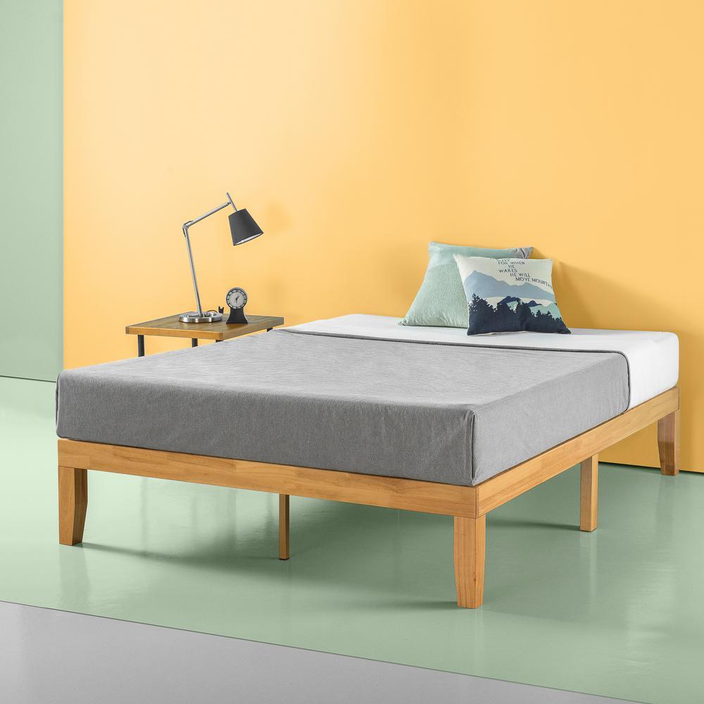 Moiz 14 in. Wood Platform Bed, King