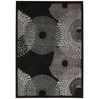 Graphic Illusions Black 4 ft. x 6 ft. Area Rug