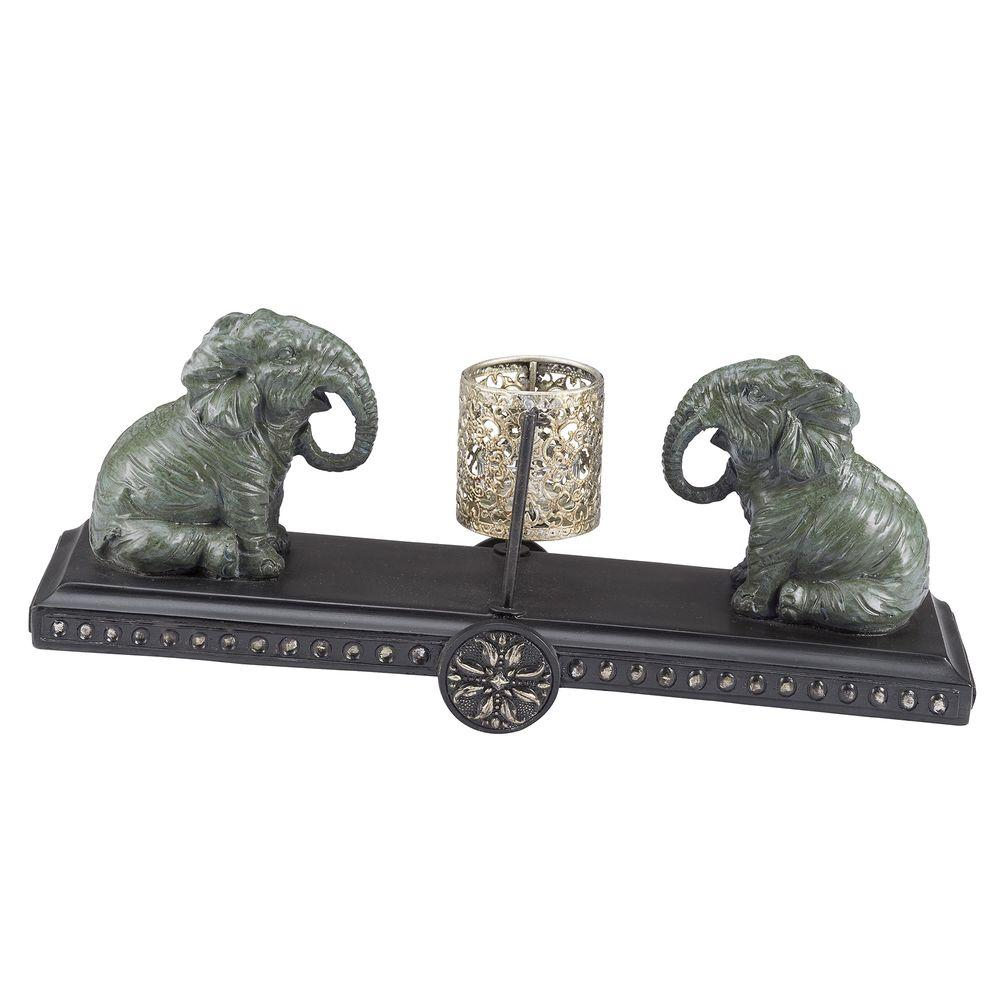 Ay Outdoors Elephant Patio Tea Light Holder