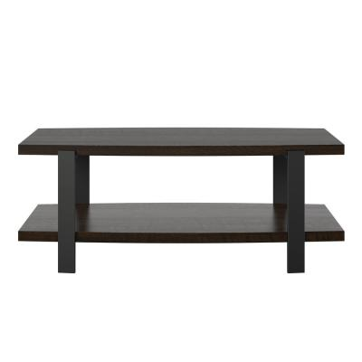 Sycamore 48 in. Espresso Large Rectangle Particle Board Coffee Table with Shelf