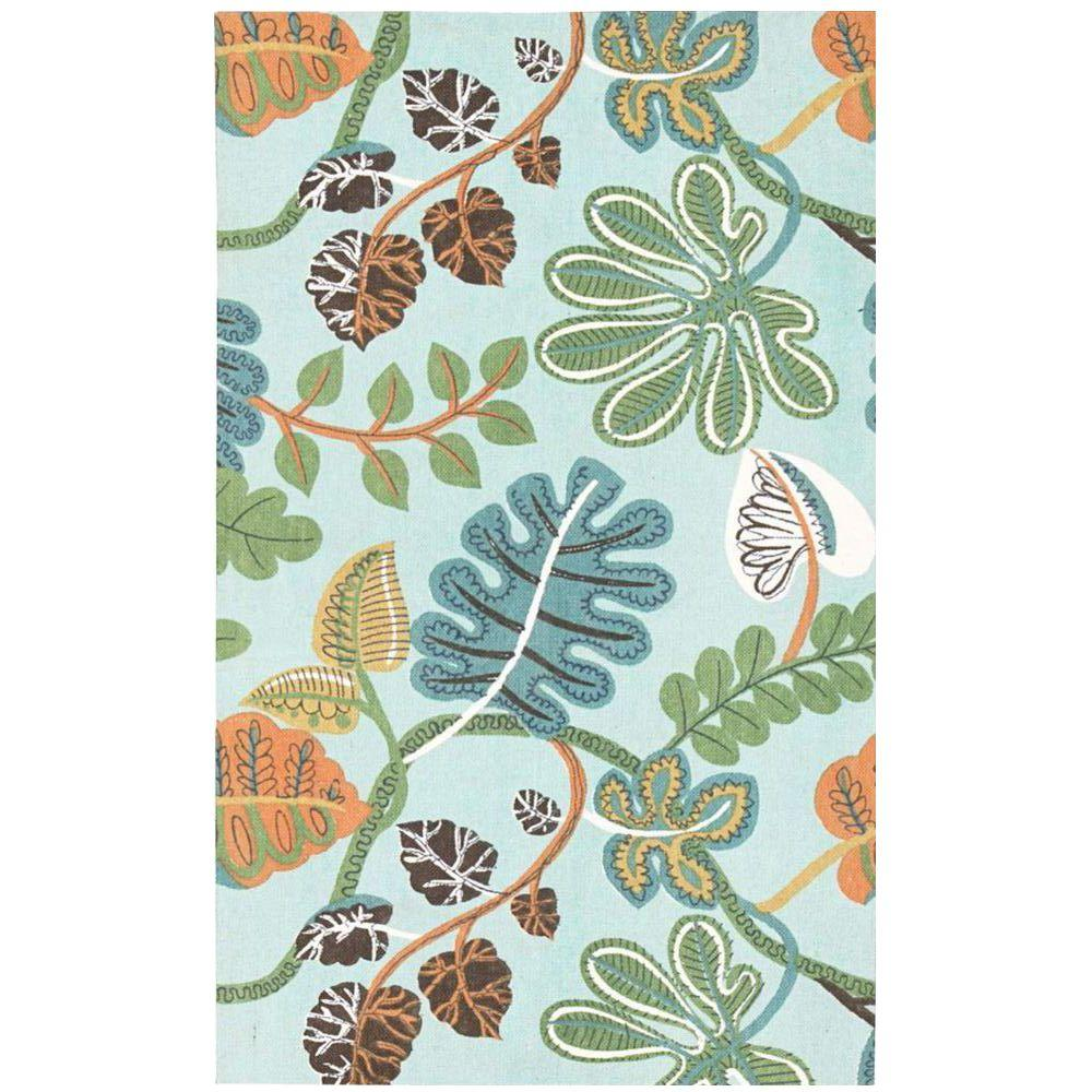 Nourison Art House Blue 2 ft. 3 in. x 3 ft. 9 in. Accent Rug