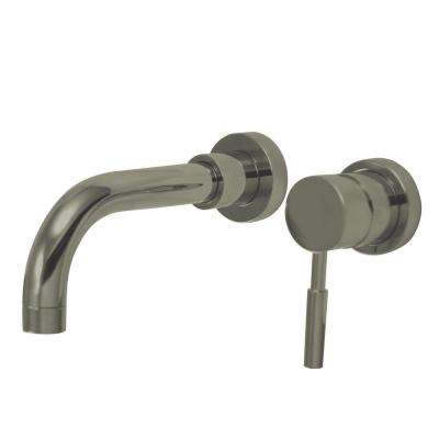 Single-Handle Wall Mount Bathroom Faucet in Satin Nickel