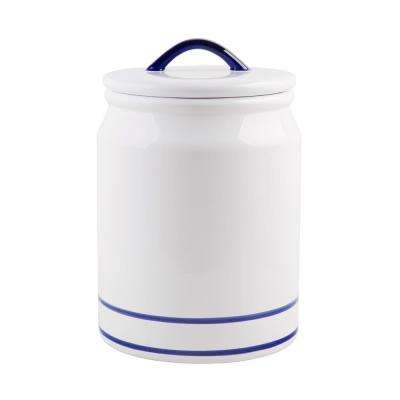 105 oz. Blue Striped Ceramic Canister