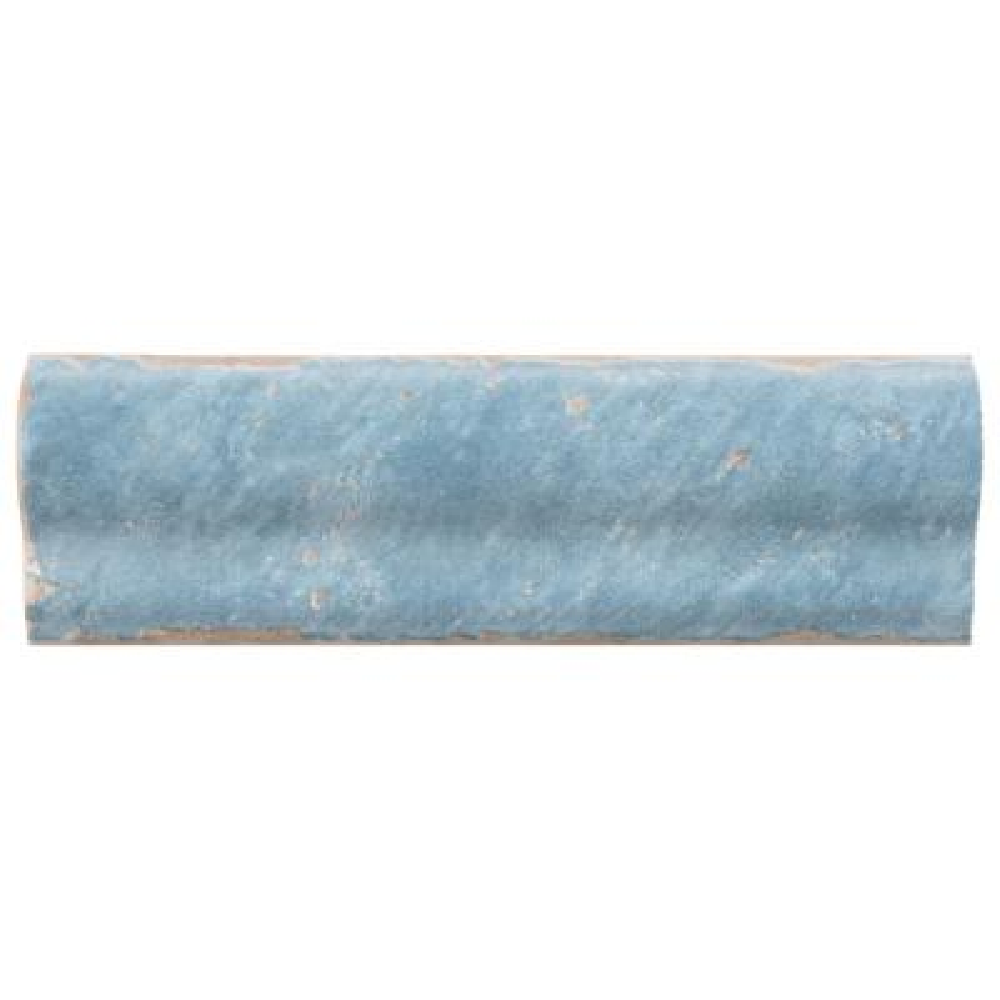 Artisan Azul 2 in. x 6-1/2 in. Ceramic Moldura Wall Trim Tile