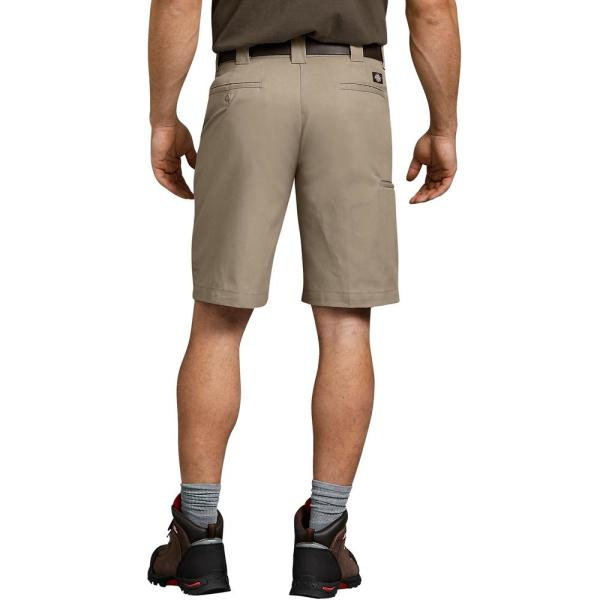 Dickies Men S Flex 11 Relaxed Fit Work Short Wr852ds 44 The Home Depot
