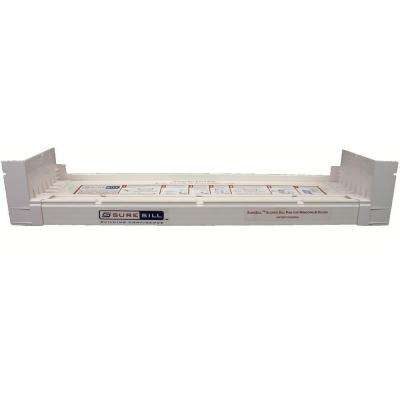 4-1/8 in. x 39 in. White PVC Sloped Sill Pan for Door and Window Installation and Flashing (Complete Pack)