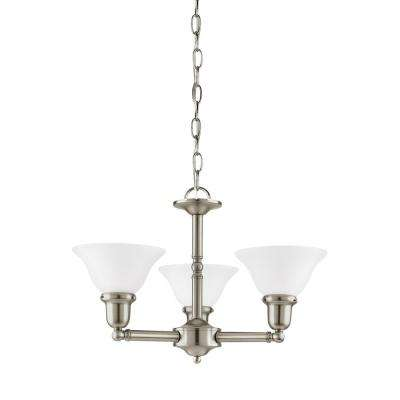 Sussex 3-Light Brushed Nickel Chandelier with LED Bulbs