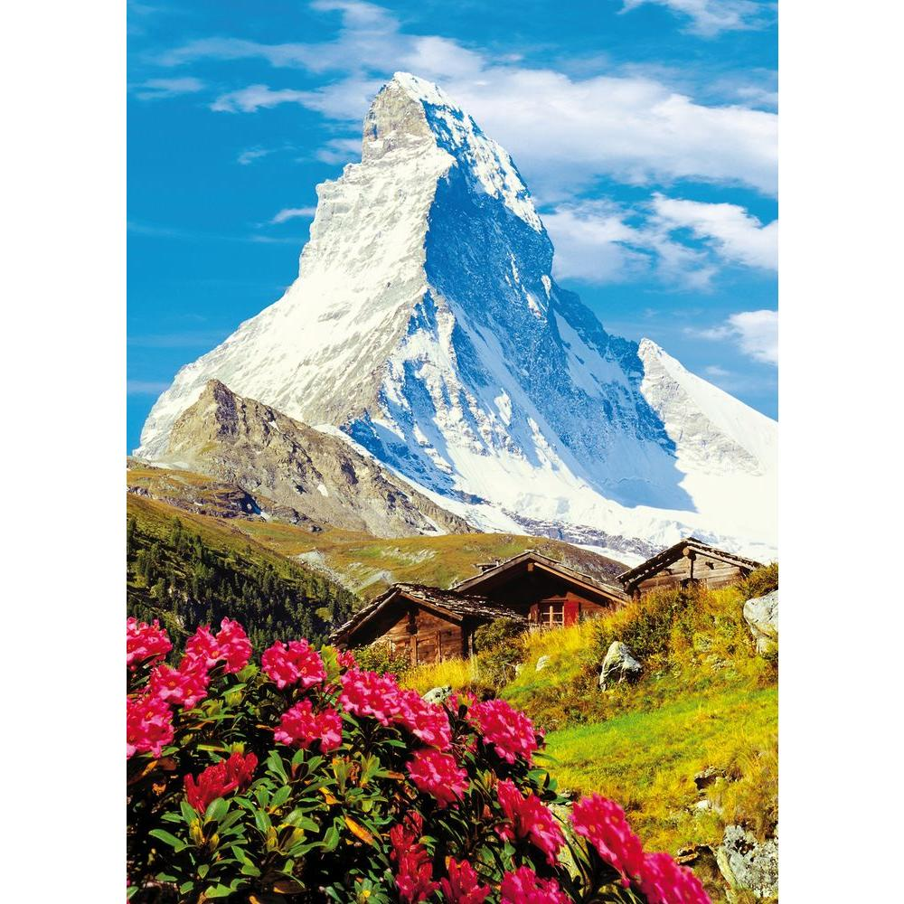 Ideal Decor 100 in. x 0.25 in. Matterhorn Wall Mural