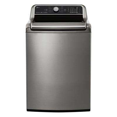 5.0 cu. ft. HE Mega Capacity Smart Top Load Washer w/ TurboWash3D and Wi-Fi Enabled in Graphite Steel, ENERGY STAR