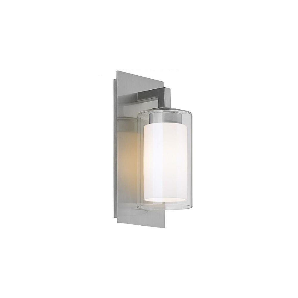 Salinger Collection 1 Light Brushed Steel Outdoor Wall Lantern