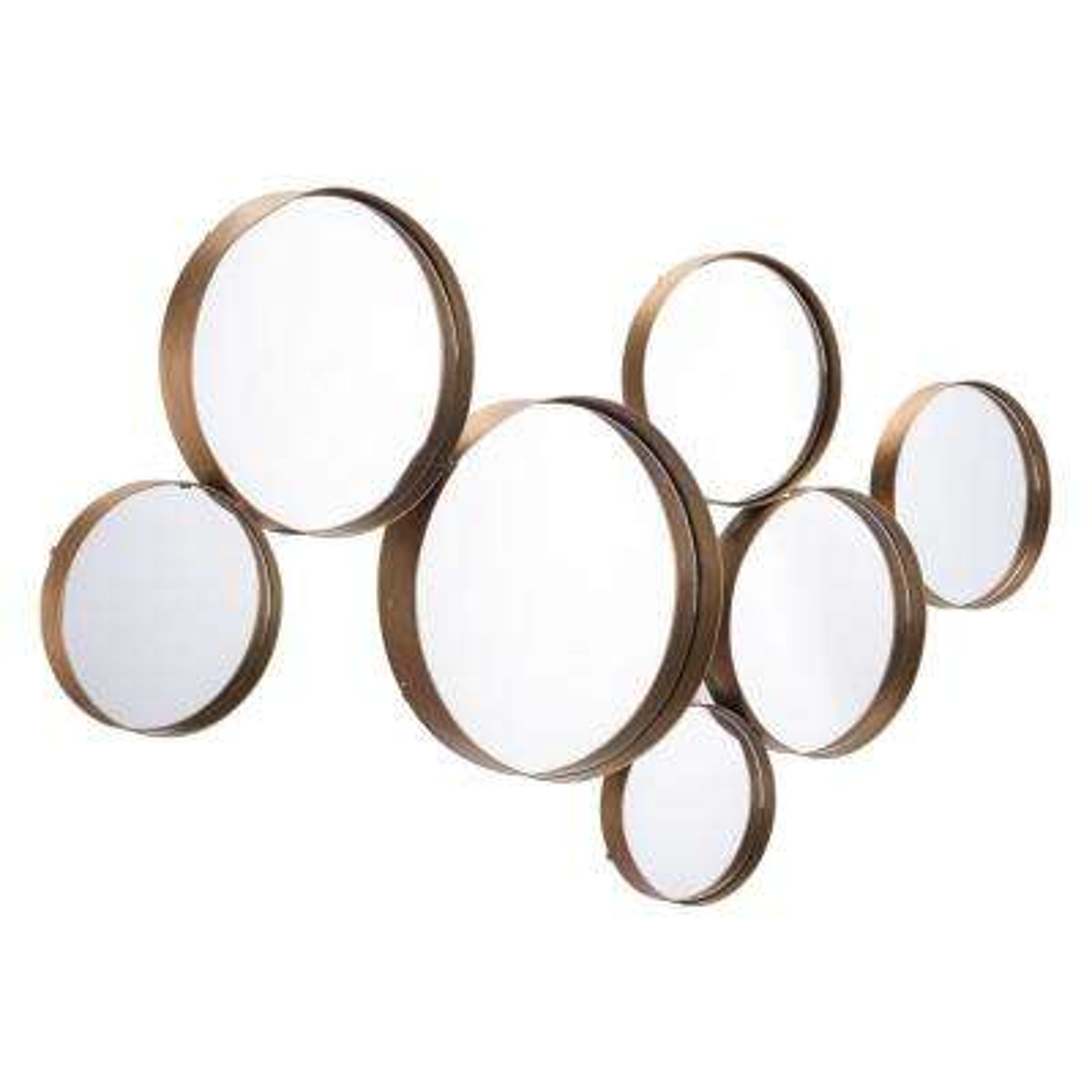 Teo Circular Gold Decorative Mirror