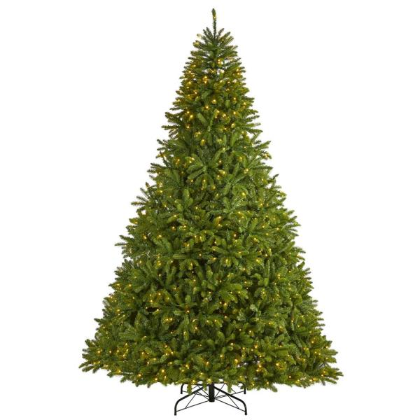9 ft. Pre-Lit Sierra Spruce  Natural Look  Artificial Christmas Tree with 1000 Clear LED Lights