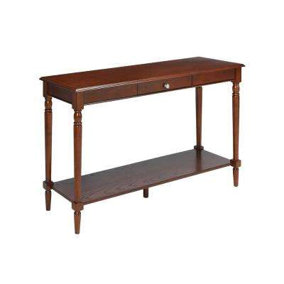 French Country Espresso Console Table