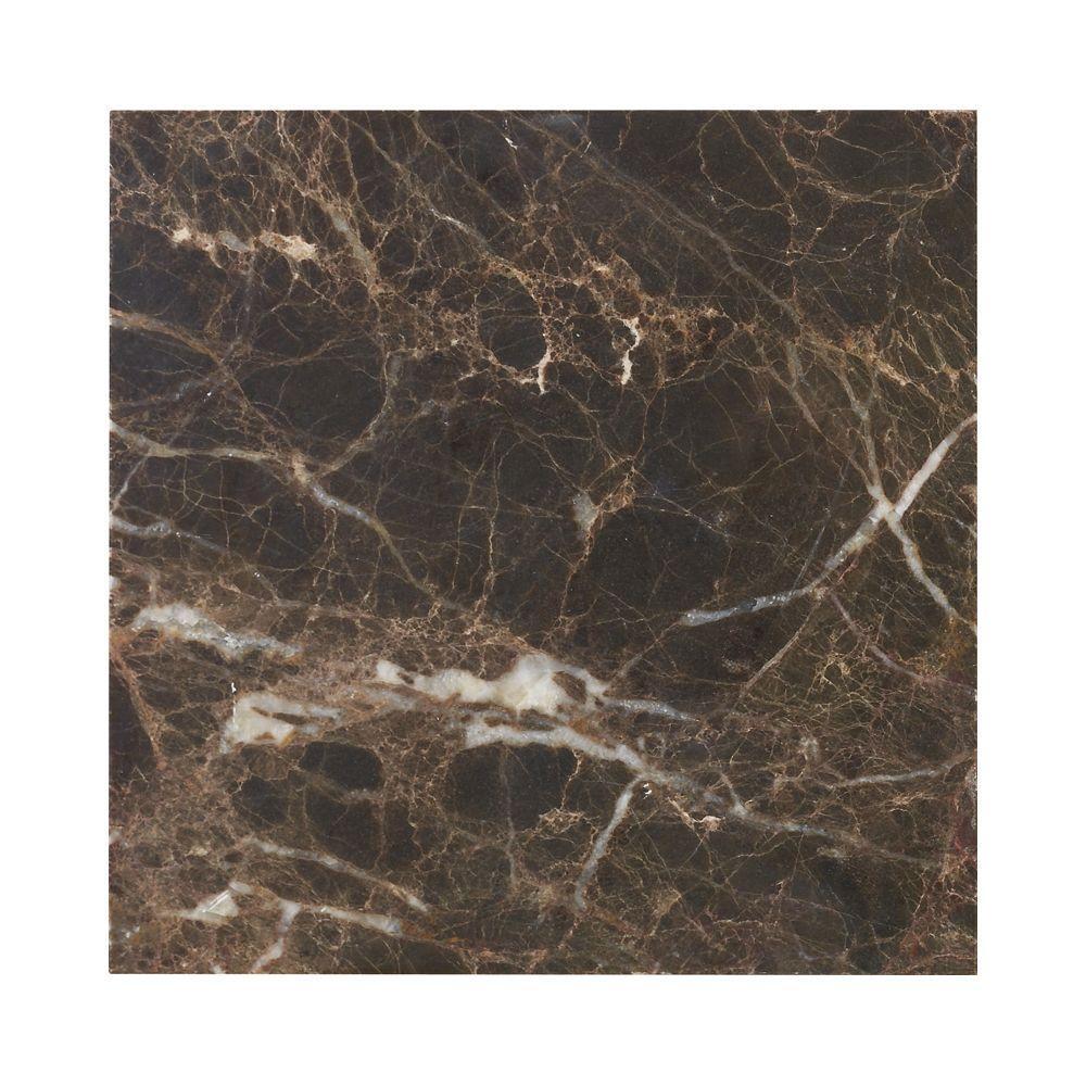 Jeffrey Court Emperador 6 in. x 6 in. Honed Marble Floor/Wall Tile