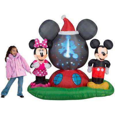h panoramic projection inflatable mickey mouses clubhouse scene - Disney Inflatable Christmas Decorations