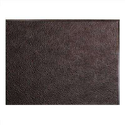 Hammered 18 in. x 24 in. Smoked Pewter Vinyl Decorative Wall Tile Backsplash 18 sq. ft. Kit