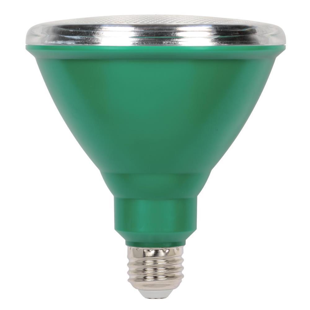 100W Equivalent Green PAR38 LED Weatherproof Flood Light Bulb
