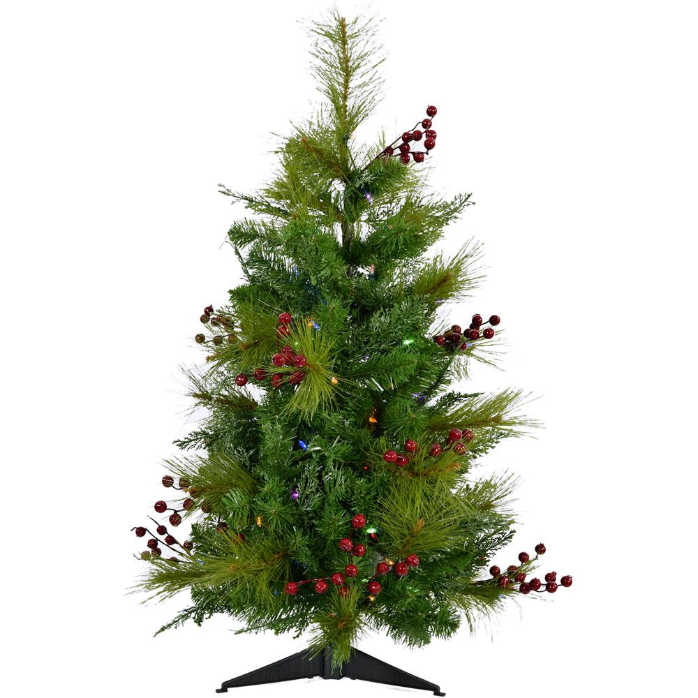 Battery Operated Outdoor Christmas Trees: Fraser Hill Farm 2 Ft. Newberry Pine Artificial Tree With