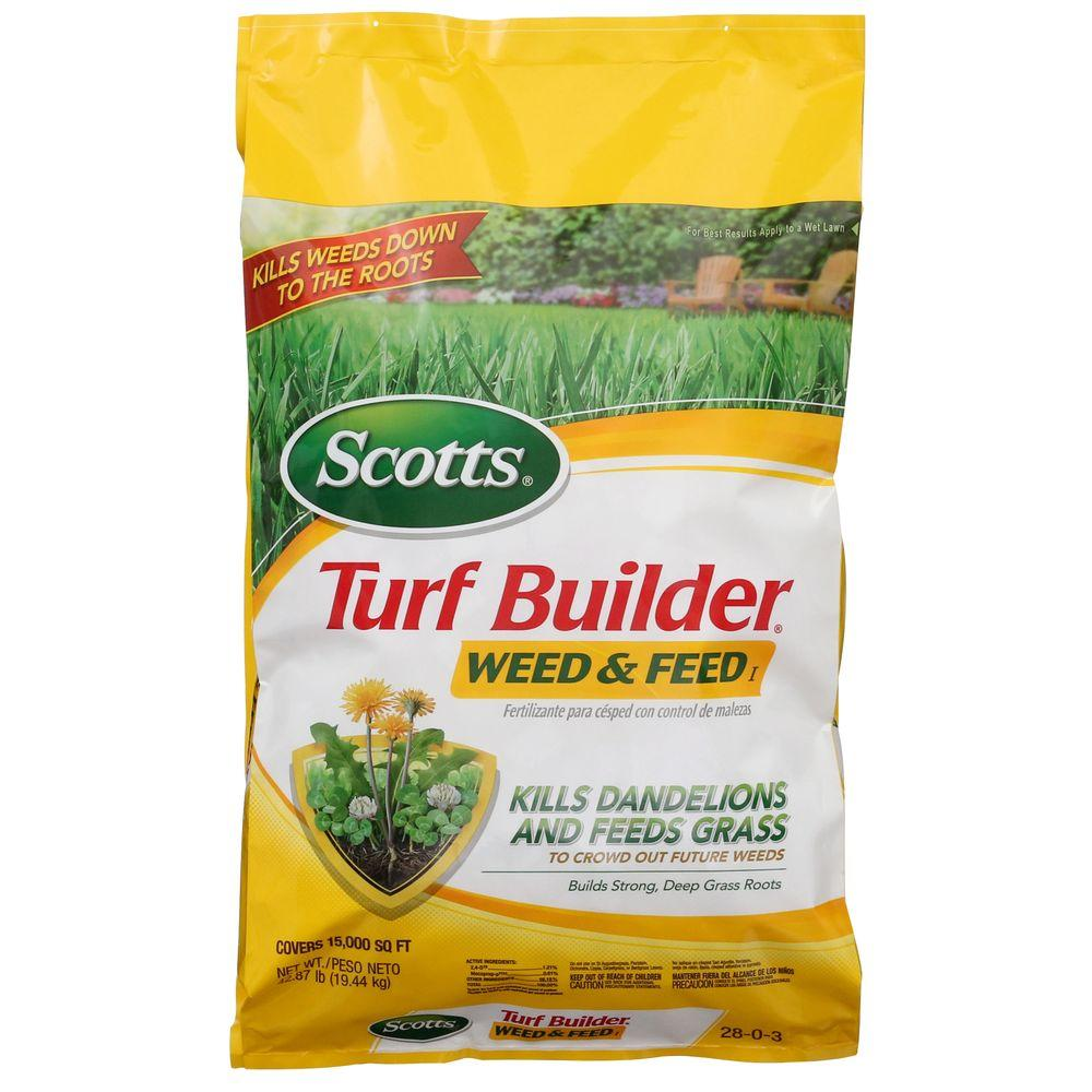 scotts turf builder 15m 42 87 lb weed and feed 29725 the home depot