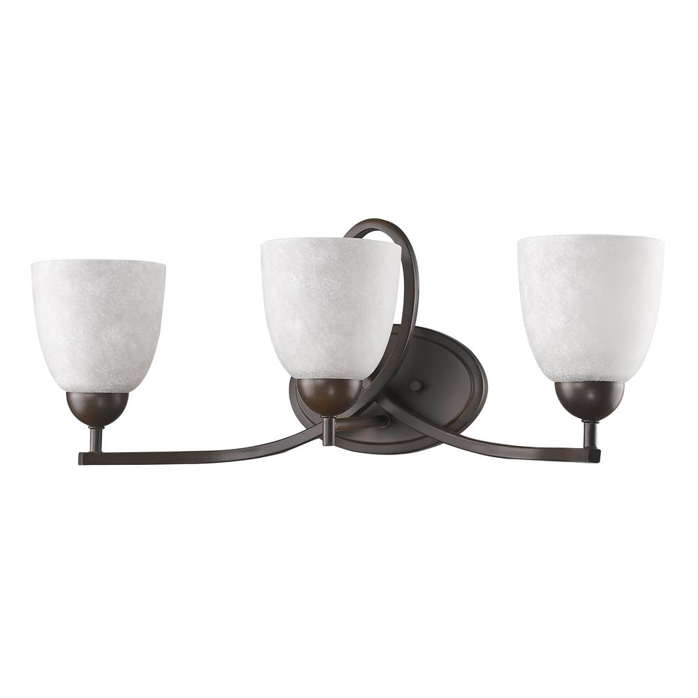Acclaim Lighting Toulouse 3-Light Oil-Rubbed Bronze Vanity Light with Scavo Glass Shades