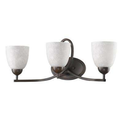 Toulouse 3-Light Oil-Rubbed Bronze Vanity Light with Scavo Glass Shades