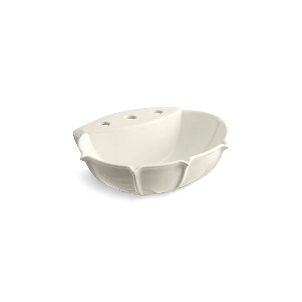 Anatole 6-5/8 in. Vitreous China Pedestal Sink Basin in Biscuit