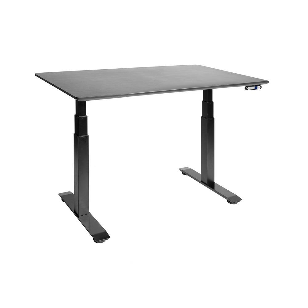 54 in. Rectangular Black Standing Desks with Adjustable Height
