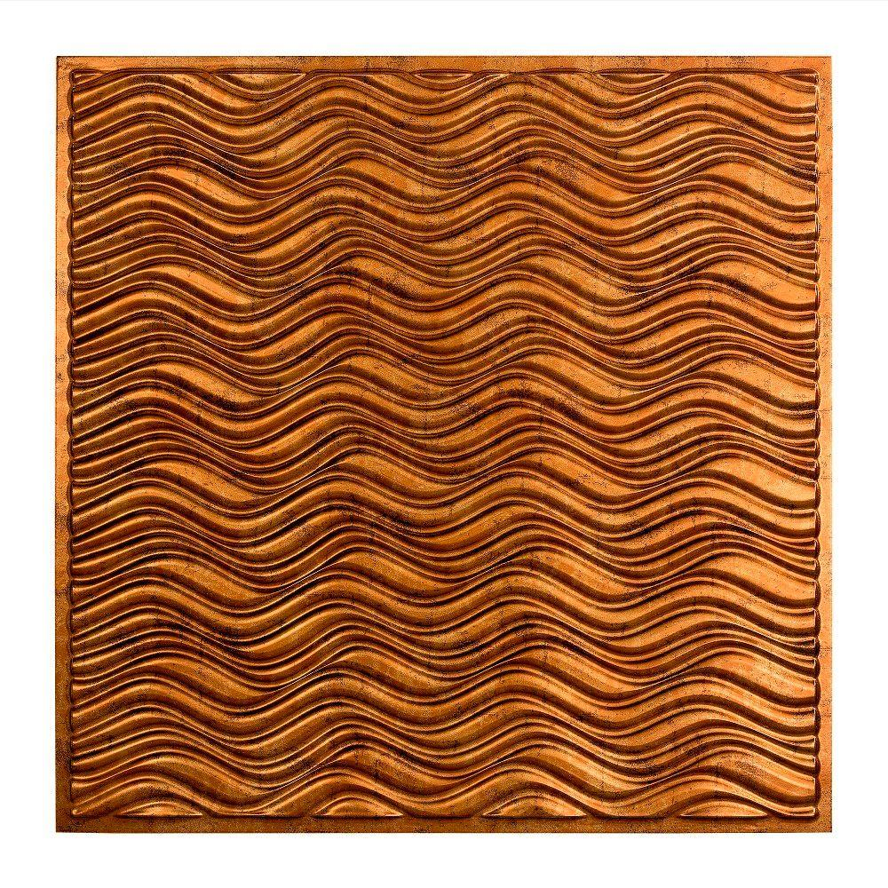 Fasade Current - 2 ft. x 2 ft. Lay-in Ceiling Tile in Muted Gold