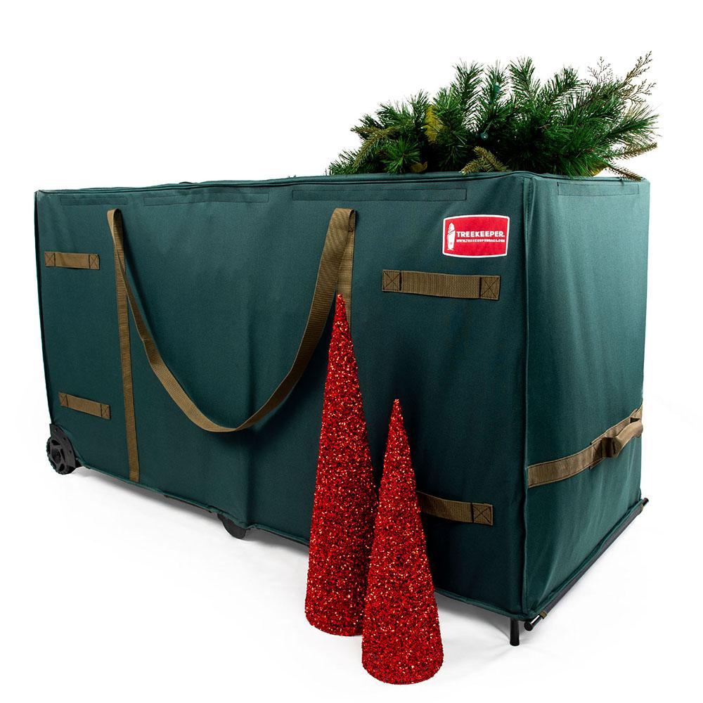 Christmas Tree Bags.Treekeeper Greenskeeper Oversize Rolling Tree Storage Bag