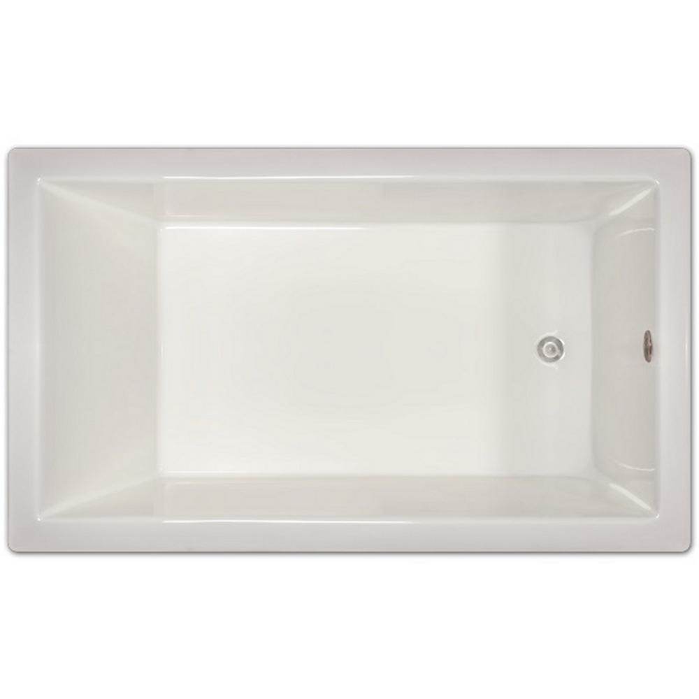 Rectangular Drop In Non Whirlpool Bathtub In White