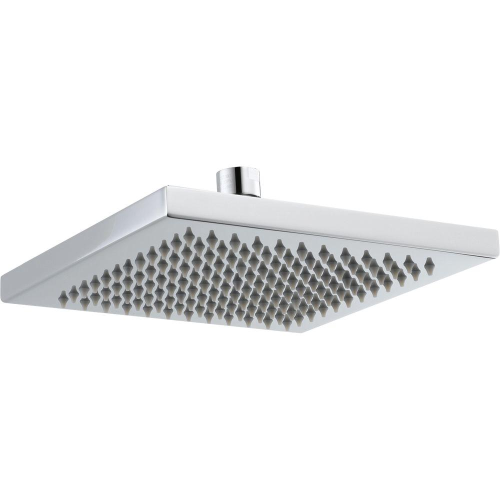 Delta Arzo 1-Spray 8 in. Overhead Raincan Shower Head in Chrome ...