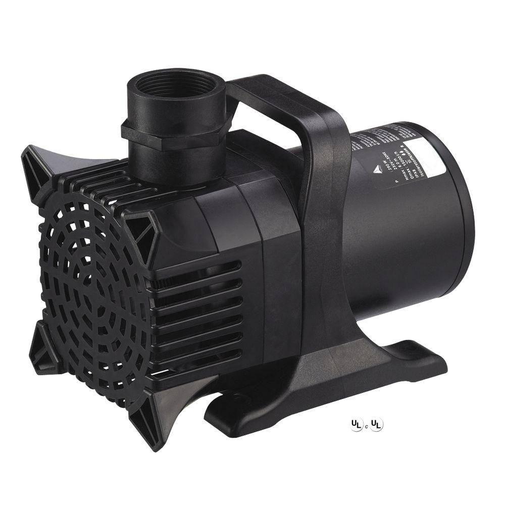 Algreen maxflo 16 000 4 000 gph pond and waterfall pump for Best pond pumps